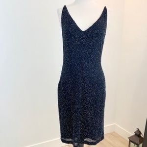 NWT Ellen Tracy Black Beaded Dress sz 6